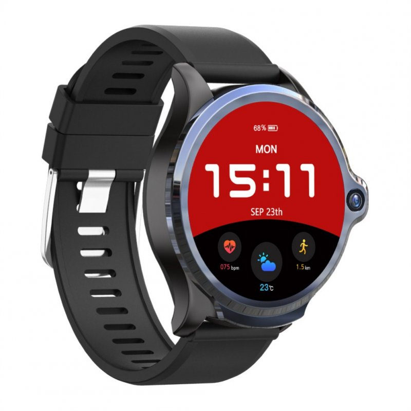 Smart Watch 1.6 Inch Face Unlocking Dual Camera 4G Smartwatch black