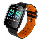 Smart Watch A6 Heart Rate Monitor Blood Pressure Waterproof Smart Bracelet Smartwatch Clock Orange
