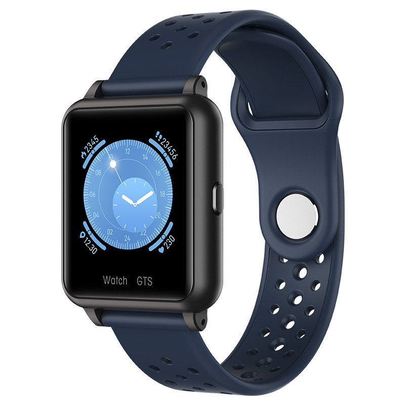 Smart Watch Temperature Measure Heart Rate Blood Pressure Monitor Bluetooth Sports Bracelet blue