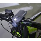 Solar Bicycle Front Light USB Charge Bicycle Light Rotate 360 Degrees  black