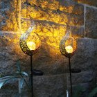 Solar Power Light Metal LED Ornament Landscape Light Outdoor Flame Effect Lawn Yard Garden Decor