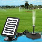 Solar Power Water Pump With LED Light Garden Water Pump Outdoor Pond Fountain Pool AS102L-0715B