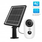 Solar Wireless Camera Outdoor Waterproof Security Camera Rechargeable Batteries 1 million Pixels  white
