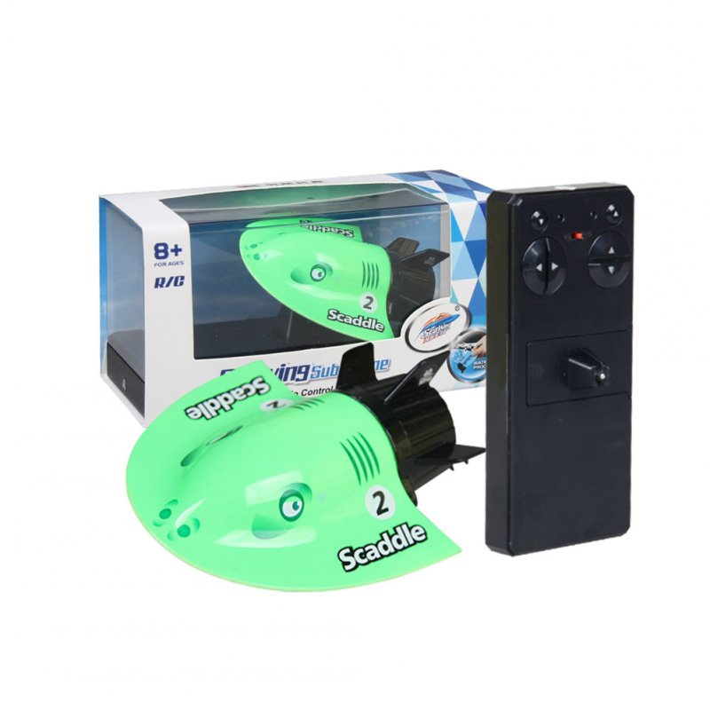 Speed Radio Electric RC Boat Mini Tourist Submarine Create Racing Boat Toys green