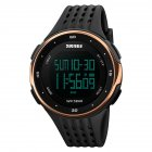 Sports Big Dial Waterproof Watch Rose Gold