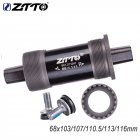 Square Taper Bottom Bracket Two Hole  68*110.5 113 118 121.5 with Waterproof Screw 113L