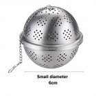 Stainless Steel Seasoning Tea Spice Strainer Separation Net Ball for Soup Fricassee Marinated ball: small (no logo)_304