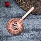Stainless Steel Sprung Bar Cocktail Strainer Wine Ice Strainer Bar Percolator Rose gold