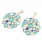Stylish Honeycomb Earrings Retro Bohemia Holiday Style Earbob for Street Snap Ornament Christmas Birthday Gift