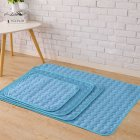 Summer Solid Color Cooling Sleeping Mat for Pet Cats Dogs Nest Blue_70*55cm