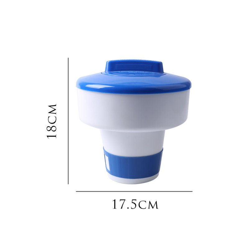 Swimming Pool Chemical Floater Chlorine Bromine Tablets Floating Dispenser Applicator Spa Hot Tub Supplies 7 inch