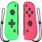 Switch Joy Con Wireless Gaming NS (L/R) Controllers Bluetooth Gamepad Green and pink