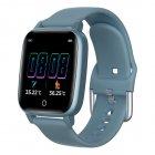 T1 Smart Watch Men Women Body Temperature Measurement Heart Rate Pedometer Band blue