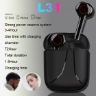 TWS Bluetooth earphone music Earpieces business headset sports earbuds wireless Headphones black
