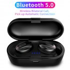 TWS V5 0 Handsfree Headsets Bluetooth Headsets Dual Stereo Headset for iphone All Smartphones black