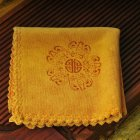 Tea Cloth Absorbent Thicken Tea Napkins for Tabletop Cleaning Turmeric