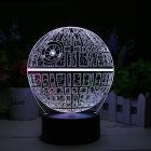Buy Star Wars Death 3D LED Lamp - Holographic Lamp, 2 Light Modes, 7 Colors, Powered USB AA Battery