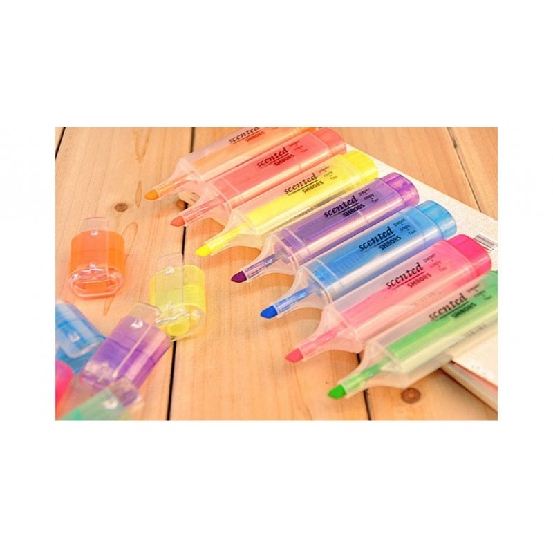 Thinkmax Office Fresh Large Capacity Candy Color Fragrance Fluorescent Highlighter Maker pen