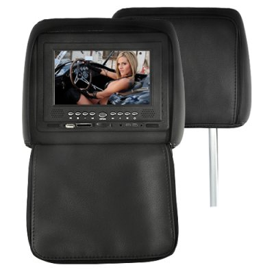 Pair 7 Inch Headrest DVD Player