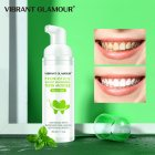 Tooth Whitening Mousse Mint Toothpaste Remove Plaque Stains Oral Odor Bright Teeth Fresh Breath Oral Care Tool 60ml