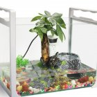 Tortoise Drying Climbing Platform Pet Reptile Hide Cave for Tank Decoration L