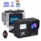 Touch Dual Screen Ultra HD 4K WiFi Sports Action Camera 1080P Waterproof Sports DV Bike Helmet Camera black_EU Plug