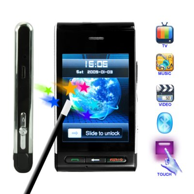 The Quantum 3 Inch Touchscreen Dual SIM Unlocked Media Cellphone