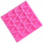 Triangle Capital Letters Silicone Mold Fondant Cake Chocolate Mold Kitchen Baking Mould Pink
