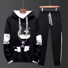 Two-piece Sweater Suits Long Sleeves Hoodie+Drawstring Pants Sports Wear for Man 3#_XXXL
