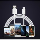 USB Cable Fast Charging Phone 5A Type-C High Speed Data Cables for Samsung Huawei white