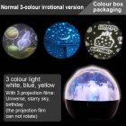 USB Chargeable Colourful Projection Lamp Valentine's Day Gift Decoration (with Birthday & Starry Sky & Universe Projection Film)