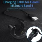 USB Charging Data Dock Cable Portable Charger For Xiaomi 4 Bracelet black