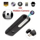 USB Disk Flash Drive HD DVR DV Recorder Pinhole Mini Camera black