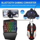 USB Gamepad Controller Converter Keyboard And Mouse Adapter black