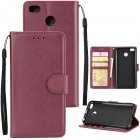Ultra Slim Shockproof Full Protective Case with Card Wallet Slot for Xiaomi Redmi 4X Red wine