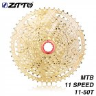 ZTTO MTB 11 Speed Cassette 11 s 11-50 t  UltraLight Freewheel Mountainbike Cassette Flywheel 11-speed 50T black gold gold L