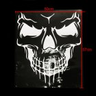 Unique Skull Design PVC Decals Car Cover Stickers Car Body Styling Sticker white