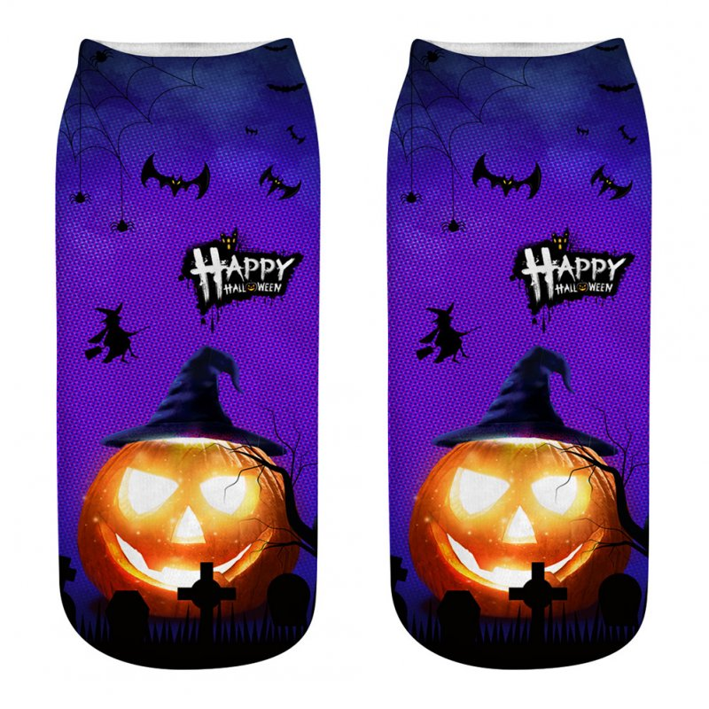 Unisex Cartoon 3D Halloween Element Printing Socks Breathable Sweat-Absorbent Socks   WSJ20_one size
