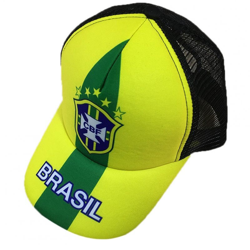 Unisex Fashion 2018 Russia World Cup Theme Baseball Cap Adjustable Sports Hats Soccer Fan Souvenir  Brazil