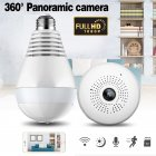 V380 Bulb Shaped Wireless Camera WIFI Remote Monitoring Network Camera Mobile Phone Home 360 Degree Panoramic Monitor 1 3 million  960P  pixels