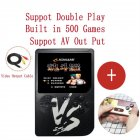 VS Vintage Classic Mini Palm Game Machine Built-in 500 Classic Games with Gamepad black