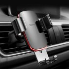 Vehicle Mount Air Outlet Phone Auto-locked Gravity Universal Phone Stand Mount black