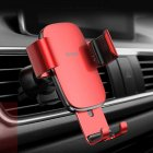 Vehicle Mount Air Outlet Phone Auto-locked Gravity Universal Phone Stand Mount red