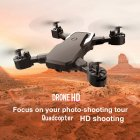 WIFI FPV Long Battery RC Drone Wide Angle Selfie Quadcopter High Definition Helicopter Altitude Toys Black 200w