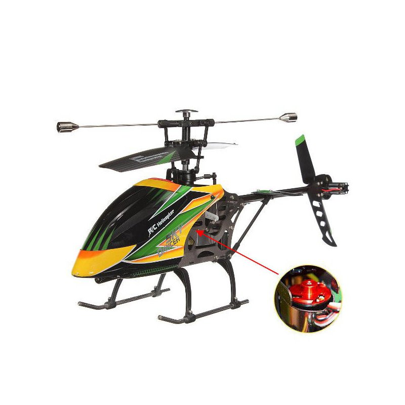WLtoys V912 4CH Brushless RC Helicopter with Gyro BNF green