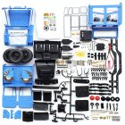 WPL C34KM 1/16 Metal Edition Kit 4WD 2.4G Buggy Crawler Off Road RC Car 2CH Vehicle Models With Head Light(Include Electronic Component) blue