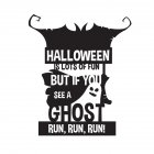 Wall Sticker Wallpaper Happy Halloween Sticker Home Kid Room Decoration AFH2093