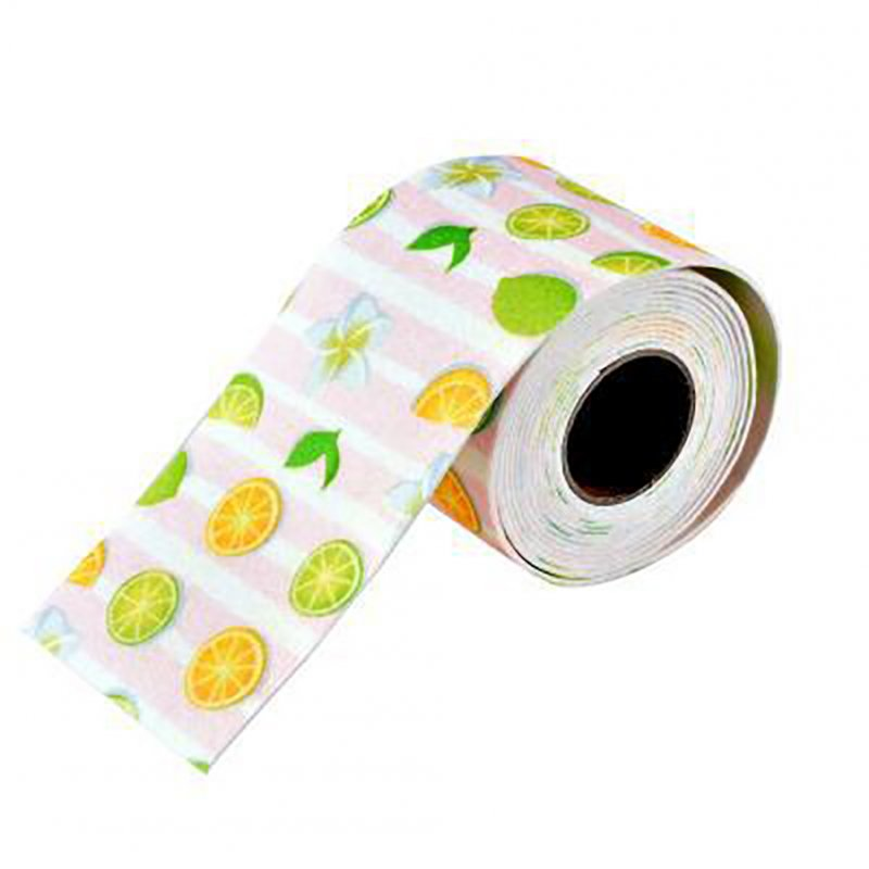 Waterproof Self-adhesion Moisture Absorption Sticker for Bathroom Toilet Kitchen Seam Decoration Lemon tea powder