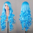 Wavy Hair Cosplay Long Wigs for Women Ladies Heat Resistant Synthetic Wig Aqua blue
