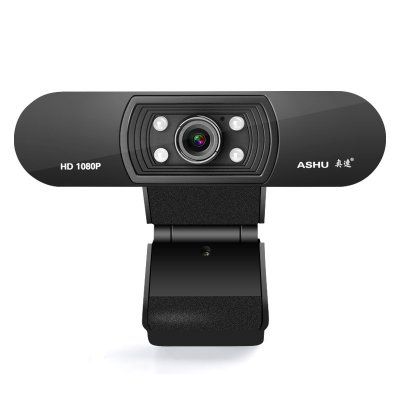 Webcam 1080P HDWeb Camera with Built-in HD Microphone  USB Plug in Web Cam Widescreen Video black